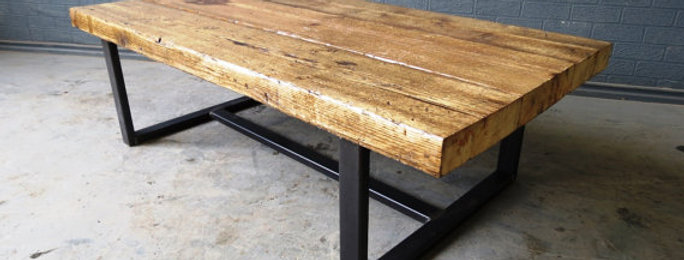 Industrial Chic Style Reclaimed Custom Coffee Table TV Unit 156