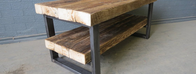 Industrial Chic Style Reclaimed Custom Coffee Table TV Unit 126