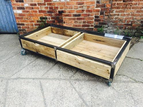 Reclaimed Industrial Chic Hand Made Bed with Storage Drawers 091
