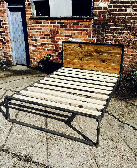 Reclaimed Industrial Chic Hand Made Bed 147