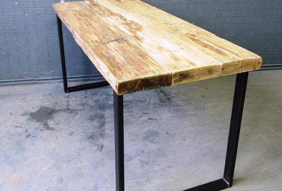 Industrial Chic Reclaimed Custom Office Desk 273