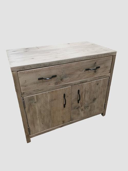 Reclaimed Industrial Rustic Bathroom Basin Washstand Sideboard with Doors-642