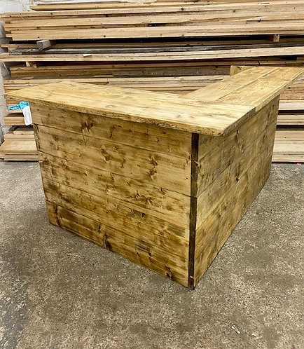 ***IN STOCK*** RECLAIMED BAR COUNTER WITH SHELVING IN OIL