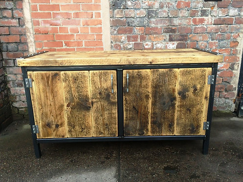Reclaimed Industrial Chic Rustic Sideboard Dresser Cupboard 381