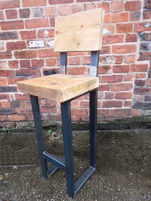 Reclaimed Industrial Chic Tall Bar Stool 051