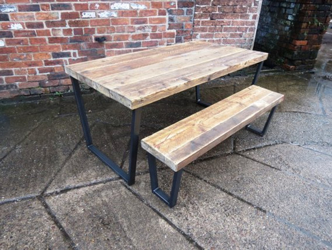 Industrial Chic Universal Reclaimed Bench Matching Bench