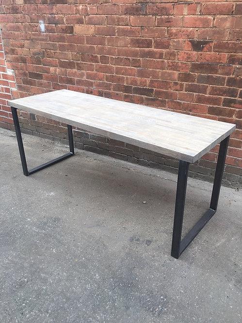 Industrial Chic Custom Solid Oak Office Desk Table HCB 124