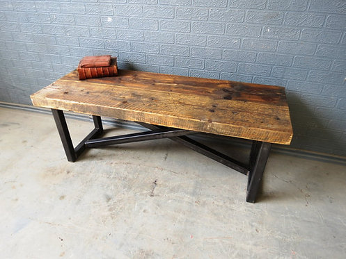 Industrial Chic Style Reclaimed Custom Coffee Table TV Stand 205