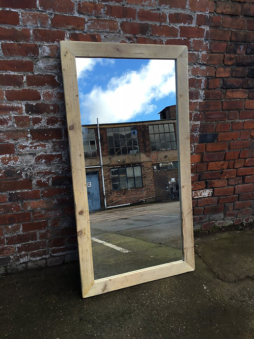 Reclaimed Industrial Chic Hand Made Mirror 038