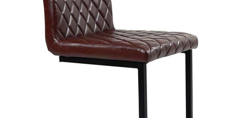 Industrial Style Dining Chair in Grey, Brown or Tan