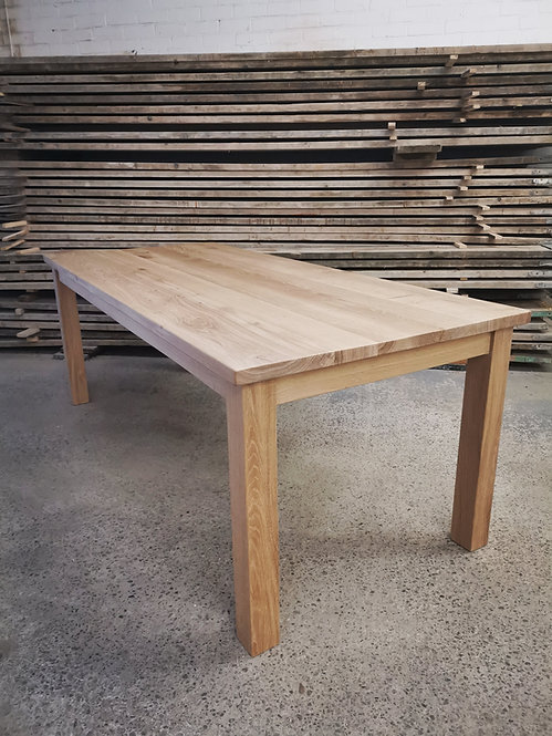 Scandi Straight Leg Full Stave Solid Oak 6-8 Seater Dining table. 660