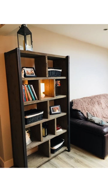 Reclaimed Industrial Chic Rustic Bookcase 488