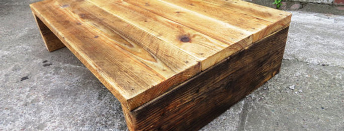 Industrial Chic Reclaimed Timber All Wood Coffee Table TV Unit Stand 110
