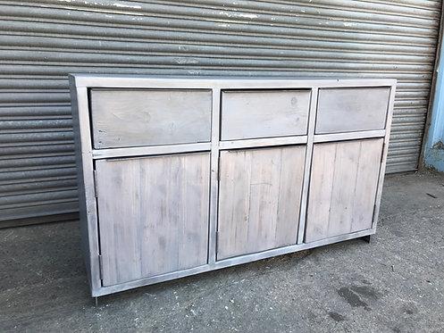 Reclaimed Industrial Chic Rustic 3-Drawer & 3 Door Sideboard - 623