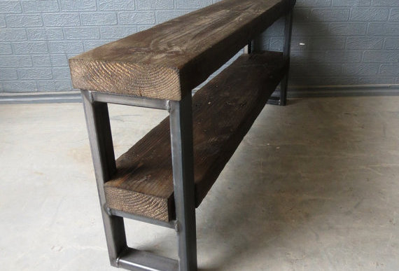 Industrial Chic Style Reclaimed Custom TV Stand Unit 077