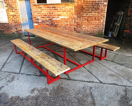 Reclaimed Industrial Chic 10-12 Seater Conference Office Table CB Red 080