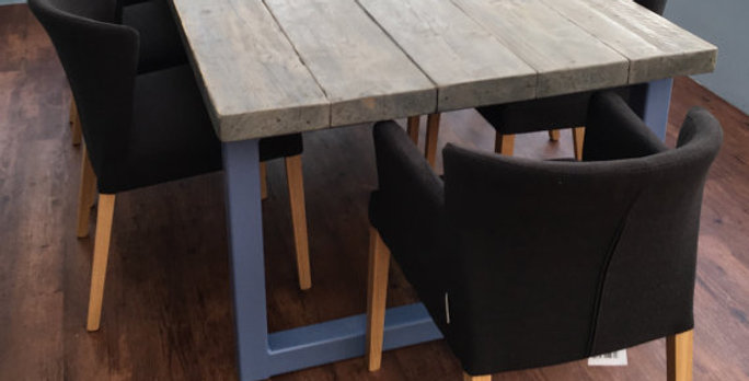Reclaimed Industrial Chic 10-12 Seater Solid Wood & Metal Dining Table HCB 434