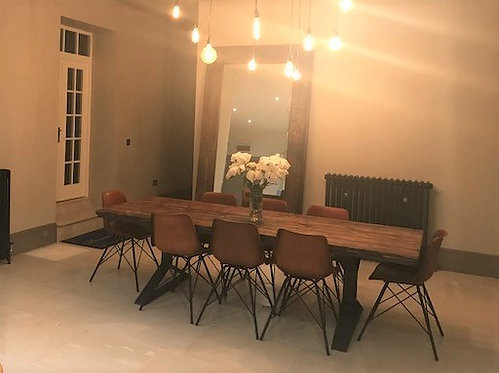 Reclaimed Industrial Chic Pyramid 8-10 Seater Dining Table 485