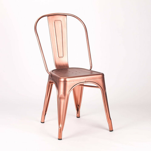 Tolix Style Industrial Dining Chair in Copper