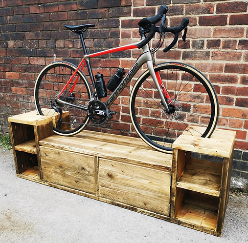 Industrial Chic Rustic Reclaimed Cycling Storage Bike Stand- 665