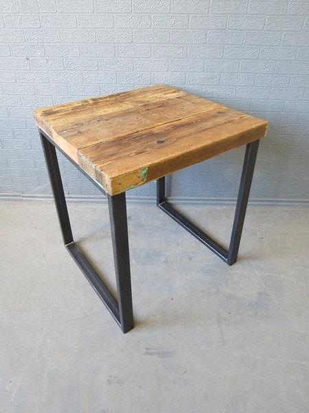 Industrial Chic Reclaimed Sleeper Scaffolding Top Custom Table Steel Base  347