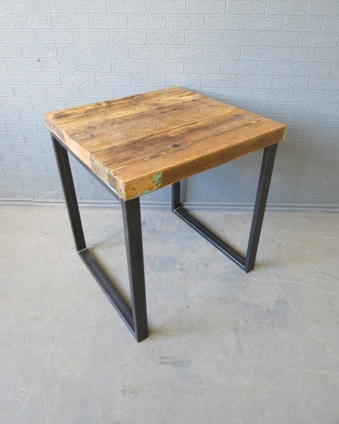 Industrial Chic Reclaimed Scaffolding Top Custom Table HCB Steel Base 347