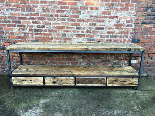 Reclaimed Industrial Chic Rustic Sideboard Dresser 018