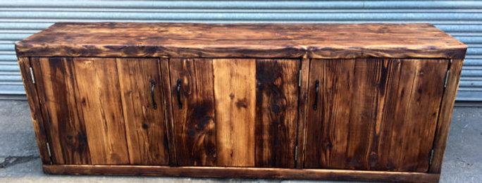Reclaimed Industrial Chic Rustic Sideboard Dresser 187