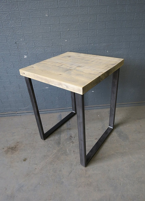 Industrial Chic Reclaimed 2 Seater Cafe Restaurant Table HCB Steel Base 430