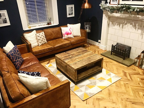 Industrial Chic Style Reclaimed Custom Coffee Table 328