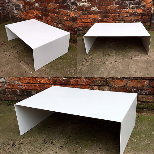 Industrial Chic All Steel White Cube Coffee Table 189