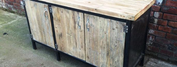 Reclaimed Industrial Chic Sideboard Dresser 296