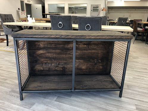 ***IN STOCK*** RECLAIMED SIDEBOARD / TV UNIT WITH MESH SIDES IN DARK OAK