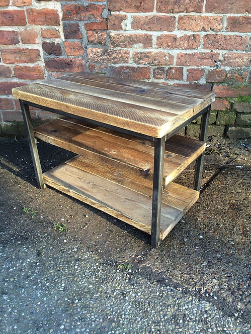 Industrial Chic Reclaimed TV Stand Media Centre Coffee Table 099