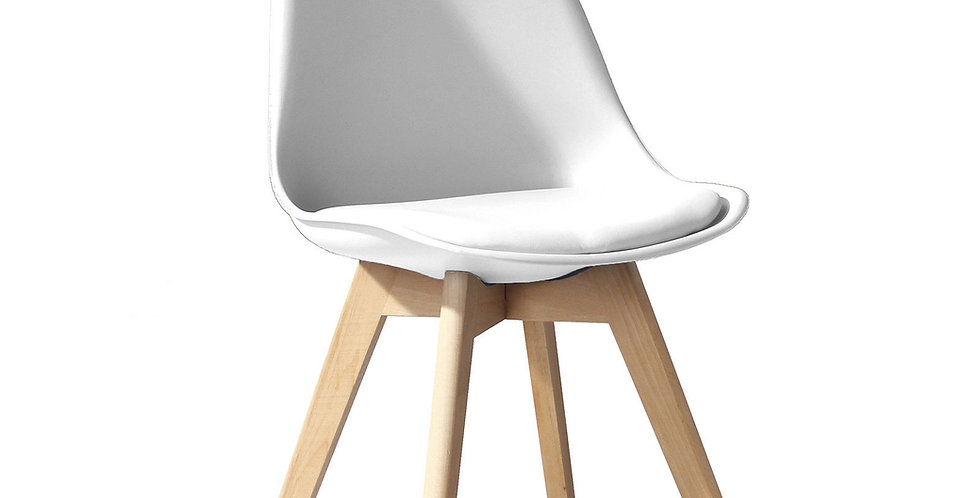 Tulip Tub Dining Chair, White and other colours. Soft pad