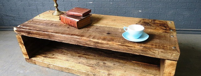 Industrial Chic Reclaimed Coffee Table TV Unit Stand 164