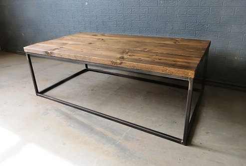 Industrial Chic Style Reclaimed Custom Coffee Table TV Stand 087