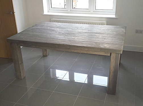 Reclaimed Rustic Industrial Farmhouse 6-8 Seater Solid Wood Table 603