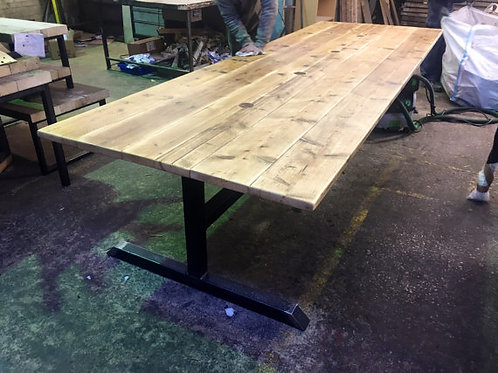 Reclaimed Industrial Chic Large Conference Office Bar Table Steel & Wood 497