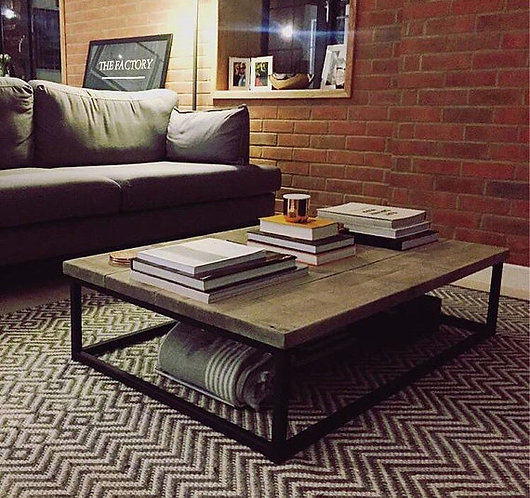 Industrial Chic Style Reclaimed Custom Coffee Table TV Stand 035