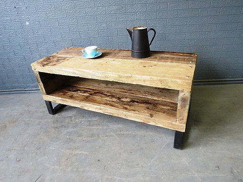 Industrial Chic Reclaimed Coffee Table TV Unit Stand 252