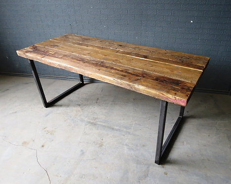 Reclaimed Industrial Chic 6-8 Seater Solid Wood & Metal Dining Table HCB 088
