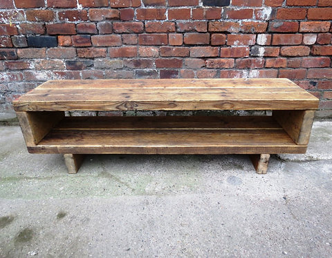 Industrial Chic Reclaimed Coffee Table or TV Unit Stand 108