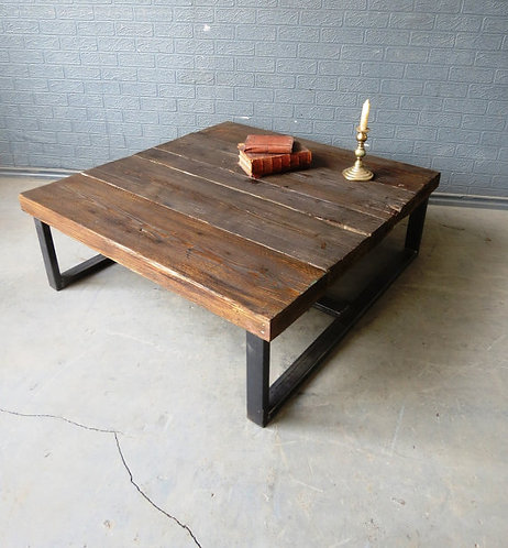 Industrial Chic Style Reclaimed Custom Coffee Table 036