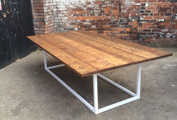 Reclaimed Industrial Chic 10-12 Seater Pedestal Conference Office Table 231