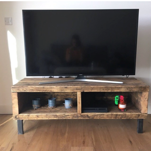 Industrial Chic Style Reclaimed Custom Coffee Table TV Stand 634