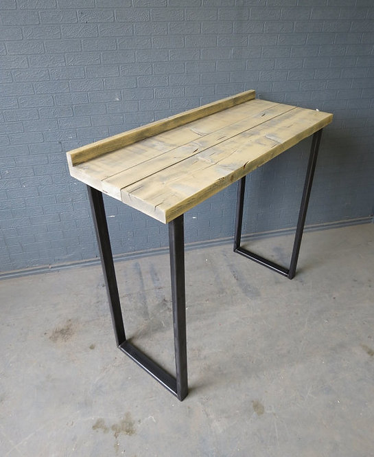 Industrial Chic Reclaimed Side Poseur Cafe Restaurant Table HCB Steel Base 397