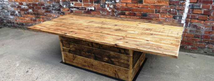 Reclaimed Industrial Chic 10-12 Seater Pedestal Conference Office Table 276
