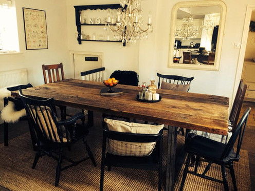 0fbceef42b1d Reclaimed Industrial Chic 10-12 Seater Solid Wood & Metal Dining Table 078