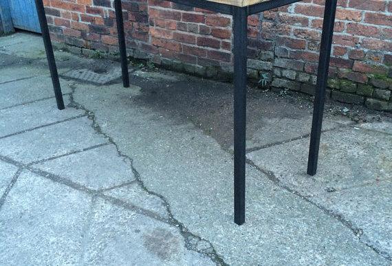 Reclaimed Industrial 6-8 Seater Tall Poseur Bar Straight Leg Table 356